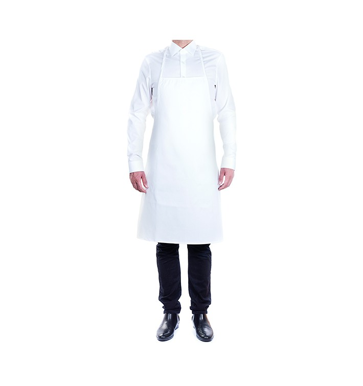 Delantal Peto Blanco 75x90cm (1 Unidad)