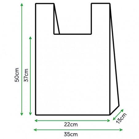Bolsa Plastico Camiseta 100% Biodegradable 35x50cm (2000 Uds)