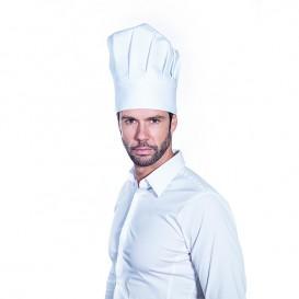 Gorro Cocinero Chef Algodón Blanco (25 Uds)