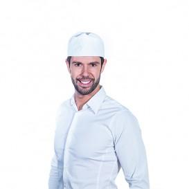 Gorro Cocinero Rejilla Algodón Blanco (25 Uds)