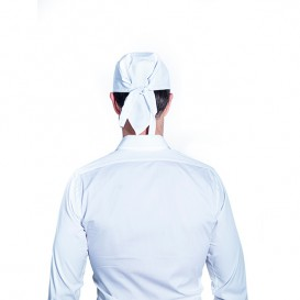 Gorro Cocinero Pirata Algodón Blanco (25 Uds)