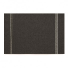 "Mantel Individual ""Day Drap"" Negro 32x45cm (12 Uds)"