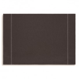 "Mantel Individual ""Day Drap"" Anthracite 32x45cm (12 Uds)"