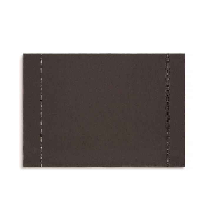 """Mantel Individual """"Day Drap"""" Anthracite 32x45cm (12 Uds)"""