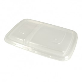 Tapa Plástico PP Envase Caña de Azúcar 2C 23x16,5cm (50 Uds)
