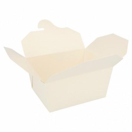 Caja Carton Americana Blanca 113x90x64mm 600ml (450 Uds)