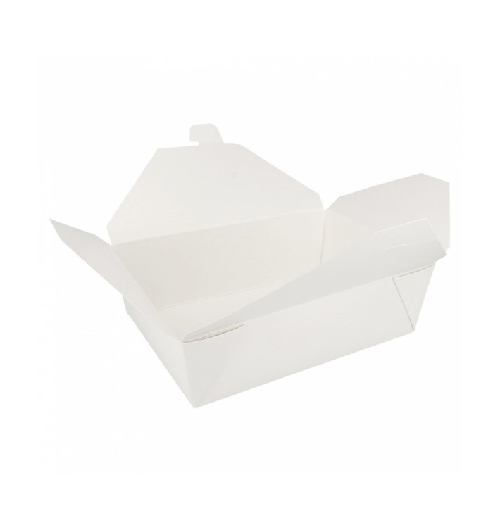 Caja Carton Americana Blanca 197x140x64mm 1500ml (50 Uds)
