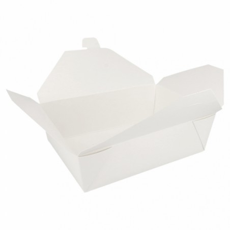 Caja de Carton Americana Blanca 197x140x64mm 1500ml (50 Uds)