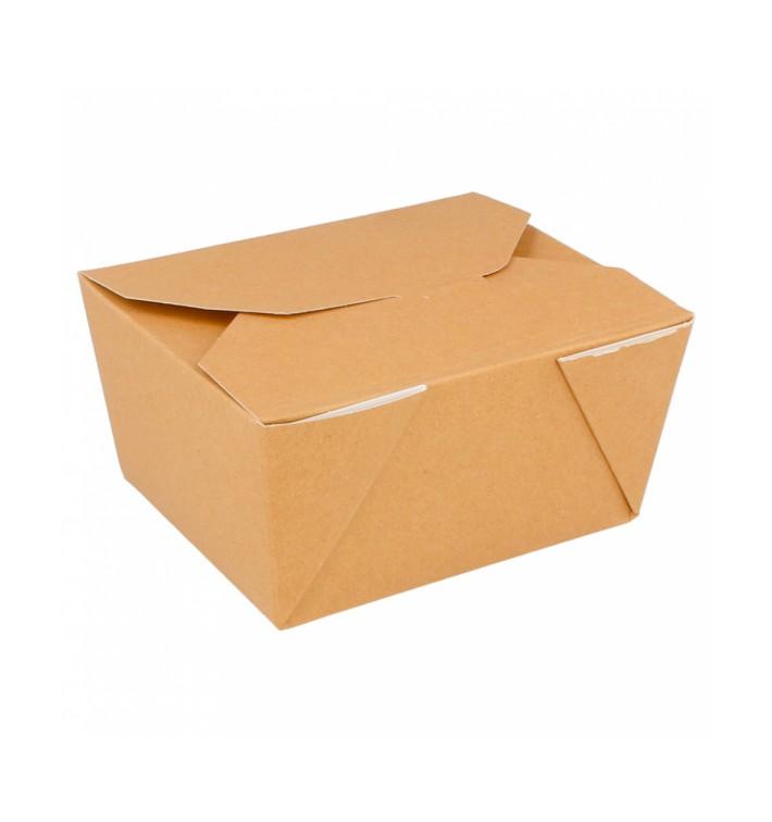 Caja Carton Americana Natural 113x90x64mm 600ml (50 Uds)
