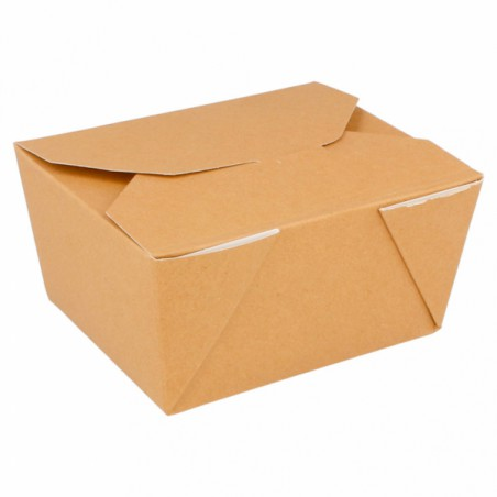 Caja de Carton Americana Natural 113x90x64mm 600ml (50 Uds)
