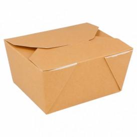 Caja Carton Americana Natural 113x90x64mm 780ml (450 Uds)
