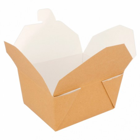 Caja Carton Americana Natural 113x90x64mm 600ml (450 Uds)