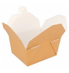 Caja Carton Americana Natural 113x90x64mm 600ml (450 Uds)