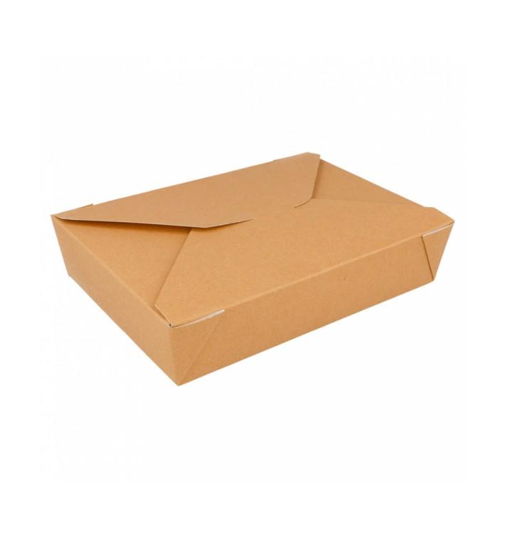 Caja Carton Americana Natural 197x140x46mm 1500ml (50 Uds)