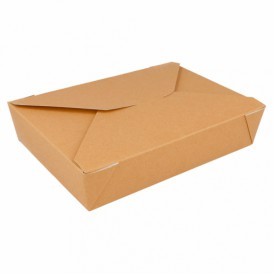 Caja Carton Americana Natural 197x140x46mm 1500ml (200 Uds)