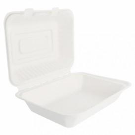 Envase MenuBox Caña Azúcar Blanco 225x165x64mm (200 Uds)