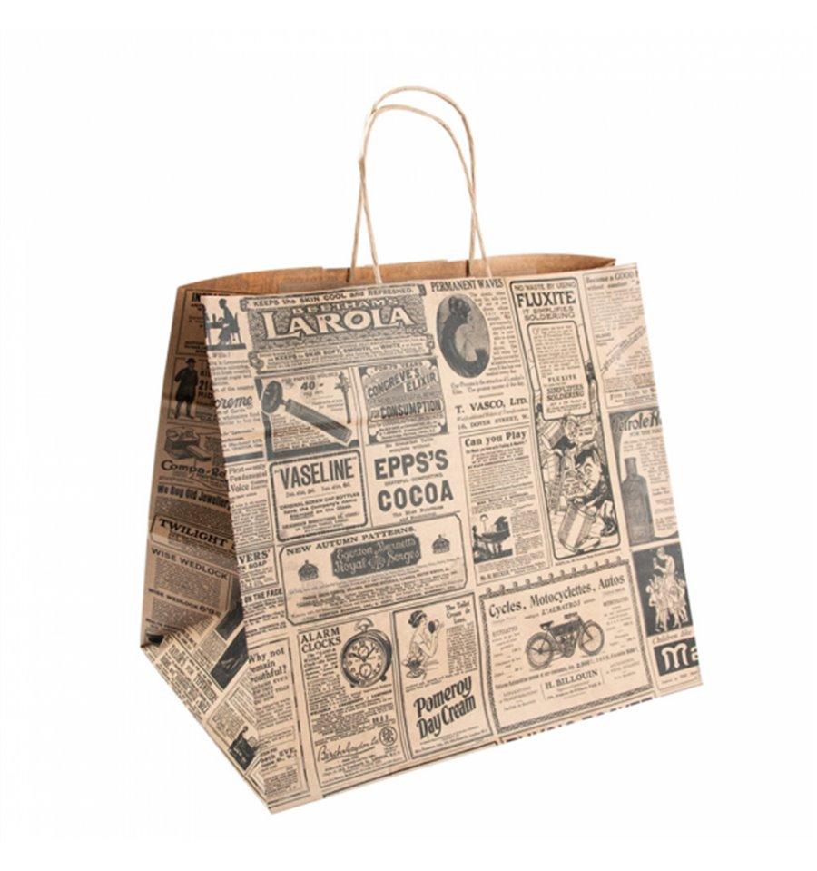 elige mejor moda de lujo sitio autorizado Bolsa Papel Kraft con Asas