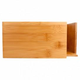 Porta Sevilletas de Bambú 21x21x10cm (12 Uds)