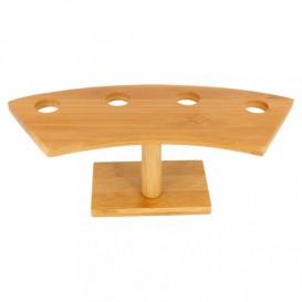 Stand de Bambú para Cucurucho 4 Huecos (12 Uds)