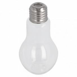 Botella Bombilla Transparente PET 100ml con tapón (250 Uds)