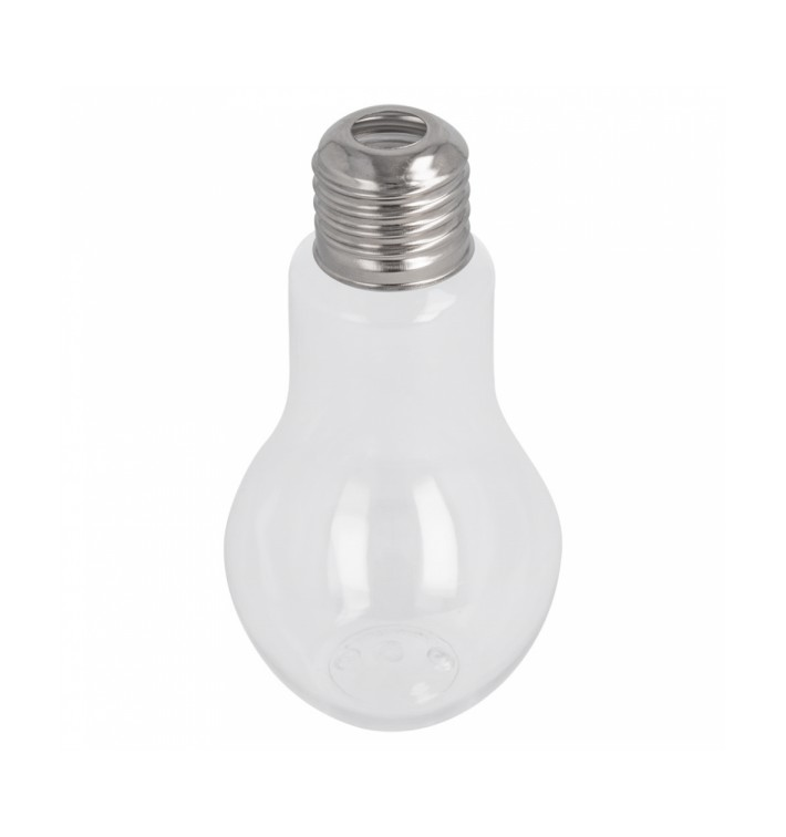 Botella Bombilla Transparente PET 200ml (25 Uds)