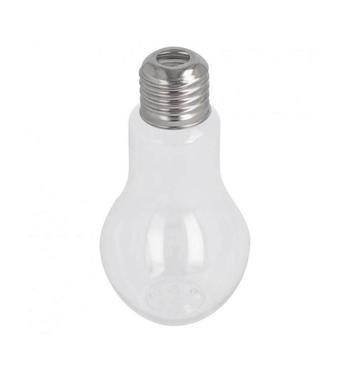 Botella Bombilla Transparente PET 400ml (200 Uds)