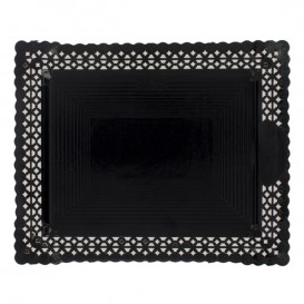 Bandeja de Carton Blonda Negra 35x41 cm (100 Uds)
