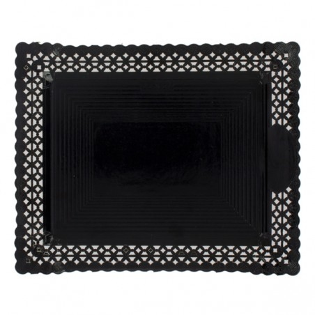Bandeja de Carton Blonda Negra 31x39 cm (100 Uds)