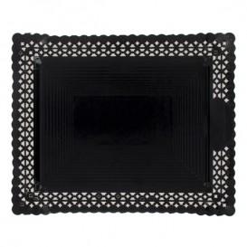 Bandeja de Carton Blonda Negra 27x32 cm (100 Uds)