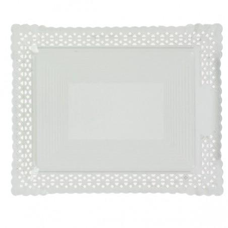 Bandeja de Carton Blonda Blanca 31x39 cm (100 Uds)