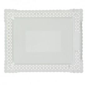Bandeja de Carton Blonda Blanca 27x32 cm (100 Uds)