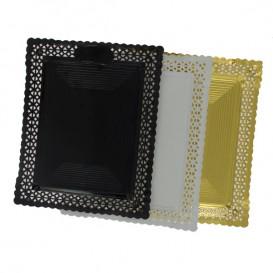 Bandeja de Carton Blonda Blanca 18x25 cm (100 Uds)