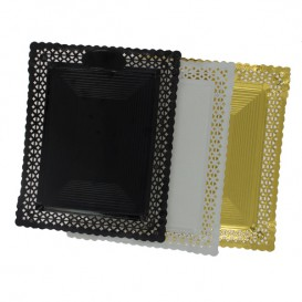 Bandeja de Carton Blonda Blanca 18x25 cm (50 Uds)