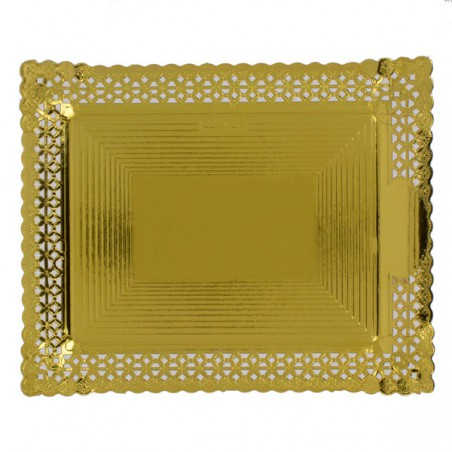 Bandeja de Carton Blonda Dorada 18x25 cm (100 Uds)