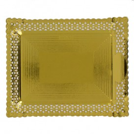 Bandeja de Carton Blonda Dorada 18x25 cm (50 Uds)