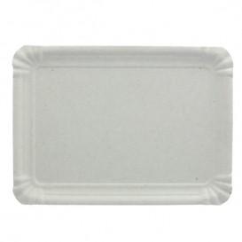 Bandeja de Carton Rectangular Blanca 16x22 cm (100 Uds)
