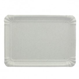 Bandeja de Carton Rectangular Blanca 20x27 cm (800 Uds)