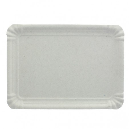 Bandeja de Carton Rectangular Blanca 14x21 cm (1400 Uds)