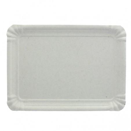 Bandeja de Carton Rectangular Blanca 14x21 cm (100 Uds)