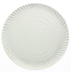 Plato de Carton Redondo Blanco 250 mm 600g/m2 (100 Uds)