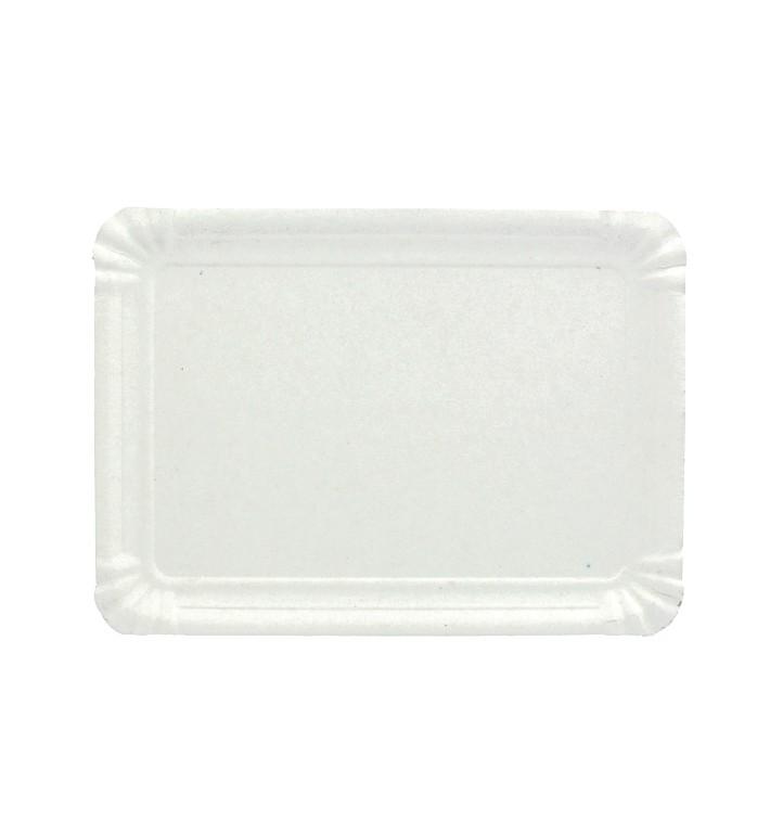 Bandeja de Carton Rectangular Blanca 10x16 cm (100 Uds)