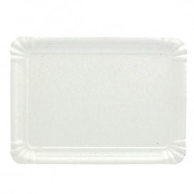 Bandeja de Carton Rectangular Blanca 16x22 cm (1100 Uds)