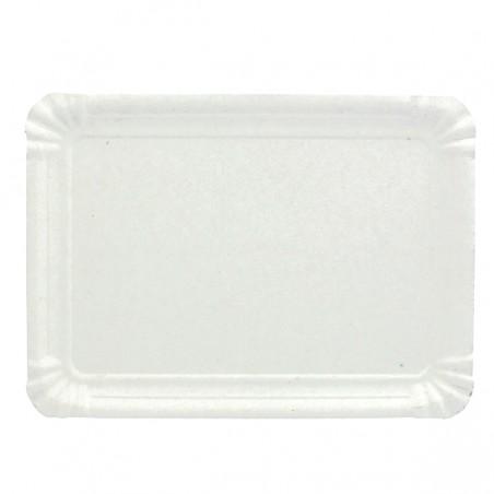 Bandeja de Carton Rectangular Blanca 20x27 cm (100 Uds)