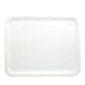 Bandeja de Carton Rectangular Blanca 31x38 cm (200 Uds)
