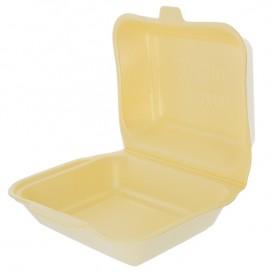 Envase Foam LunchBox Champagne 185x155x70mm (500 Uds)