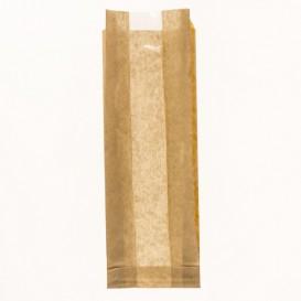 """Bolsa de Papel Kraft Ventana """"Espigas"""" 10+4x29cm (125 Uds)"""