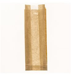 Bolsa de Papel Kraft Ventana 10+4x29cm (125 Uds)