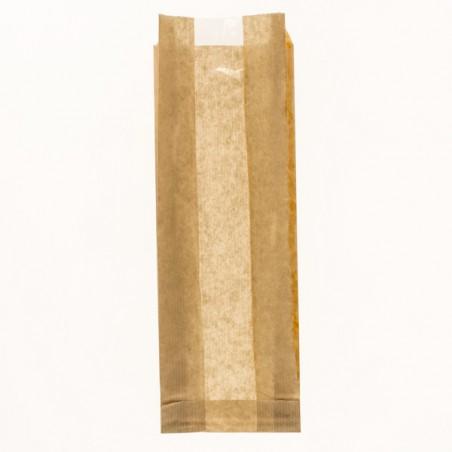 Bolsa de Papel Kraft Ventana 10+4x29cm (1000 Uds)