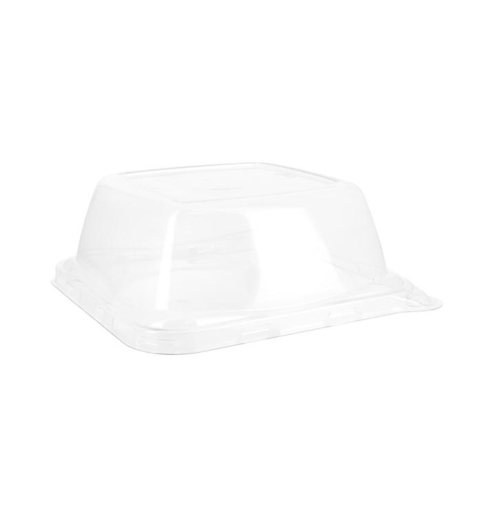 Tapa PET para Envase Caña de Azúcar 14x14x5,5cm (300 Uds)