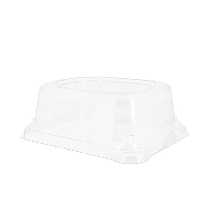 Tapa PET para Envase Caña de Azúcar 24x11x5cm (50 Uds)